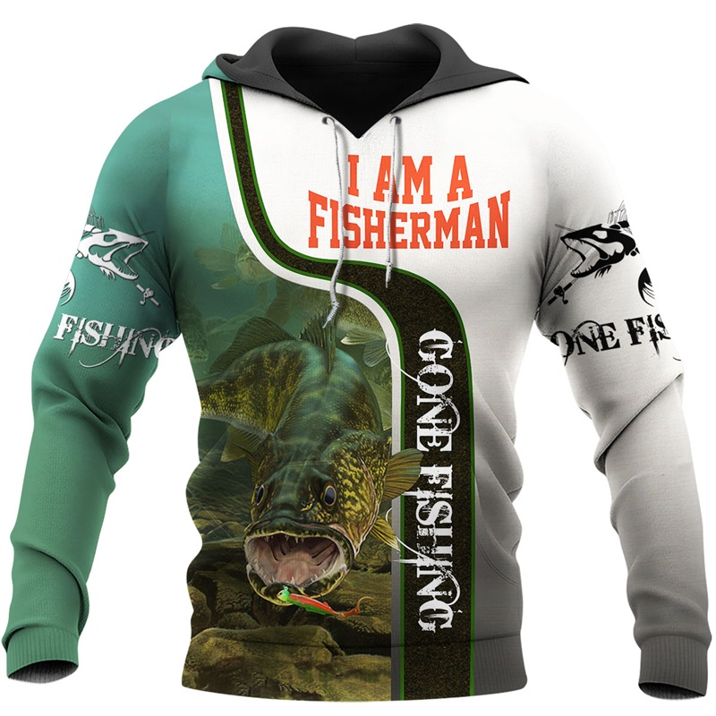 PLstar Cosmos New Fisherman fisher Fishing Art Harajuku casual Tracksuit Funny 3D Print Hoodies/pullover/Jacket/Men Women-43