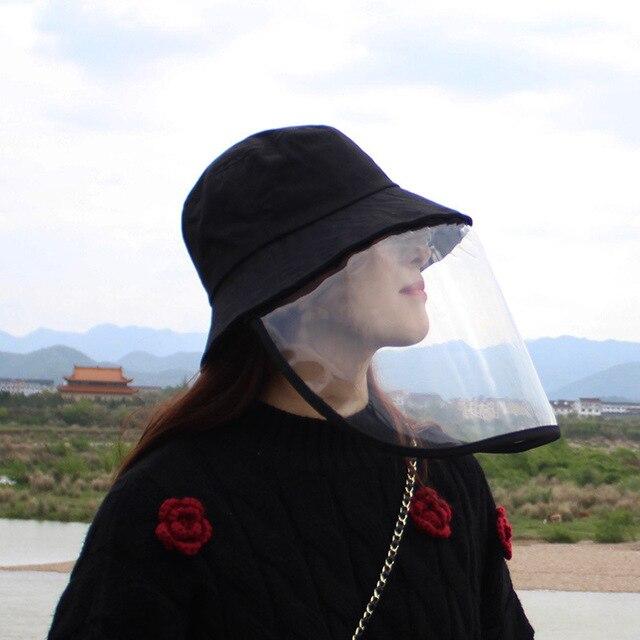 Anti Virus Mask Protective Anti-saliva Dust-proof Sun Hat Safety Full Face Shield Mask Protection Tool Fisherman Fishing Cap 1