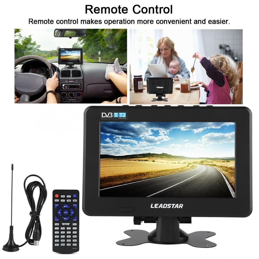 Mini Smart TV HD 1080P televisión Digital 10 pulgadas Dvb-alta sensibilidad del coche estéreo para Tv Digital que rodea la televisión Lcd portátil