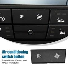 Botão do ventilador de reparo controle ar condicionado para bmw x1 1 3 series e84 e87 e88 e90 e91 e92 e93 lci aquecedor painel clima interruptor boné