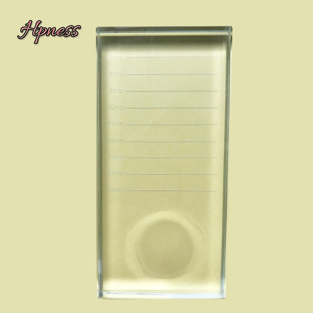Image 4 - Glasses For Lashes False Eyelash Storage Box Transparent Glass Case Eyelash Cosmetic Makeup Storage Box Eyelashes Stand Tools-in Eyelashes Set from Beauty & Health