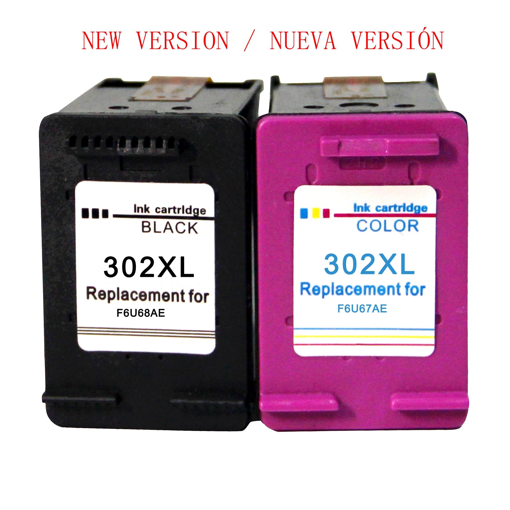 Compatible 302XL Cartuchos de tinta para HP 302 para HP OfficeJet 5220 5222 5230 5232 3831 3833 Envy 4520 4524  DeskJet 3639