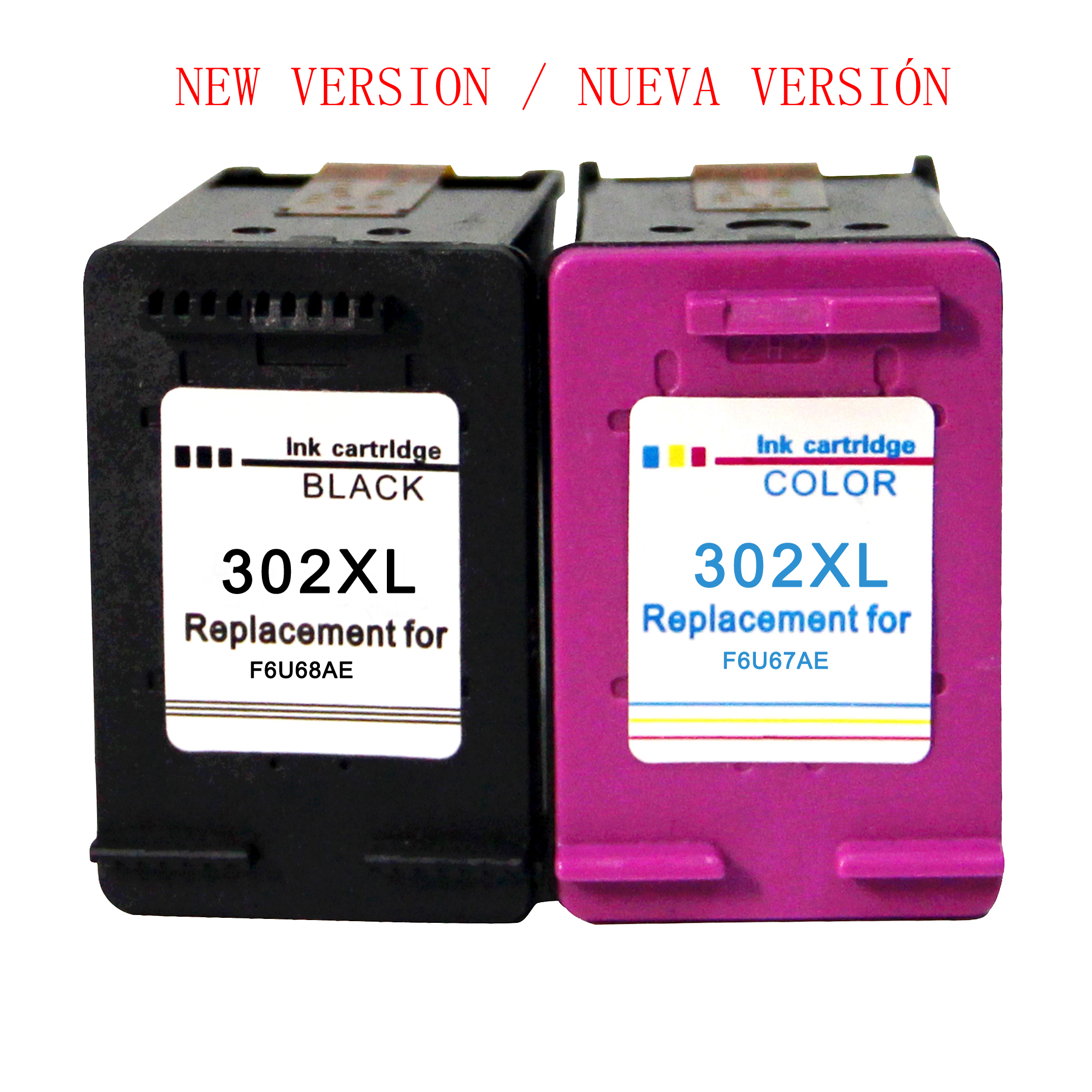 Compatible 302XL Ink Cartridges For HP 302 For HP OfficeJet 5220 5222 5230 5232 3831 3833 Envy 4520 4524 DeskJet 3639