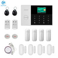 Envío gratis WIFI + GSM GPRS APP Control remoto hogar/oficina/fábrica sistema de alarma de seguridad antirrobo inalámbrico para Android Y iOS