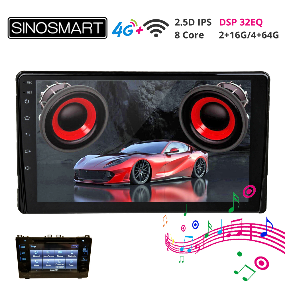 Sinosmart Android 8.1 Car GPS player for Toyota Prius/Tacoma/Sienna/Corolla 15-18 Premium Entune App Suite HD Radio XM OEM image