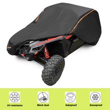 2/4 Doors UTV 210D Oxford Cloth Protect Utility Vehicle Storage Cover from Rain Dirt Rays Reflective for Can Am Maverick X3