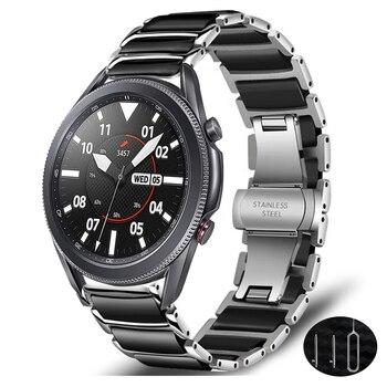 for samsung galaxy watch 3 45mm 41mm band luxury Ceramic strap galaxy watch 46mm active 2 amazfit bip huawei watch gt 2e 2 strap
