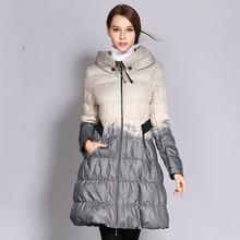 Winter new womens down jacket Womens knee long cotton temperament warm coat women Free shipping