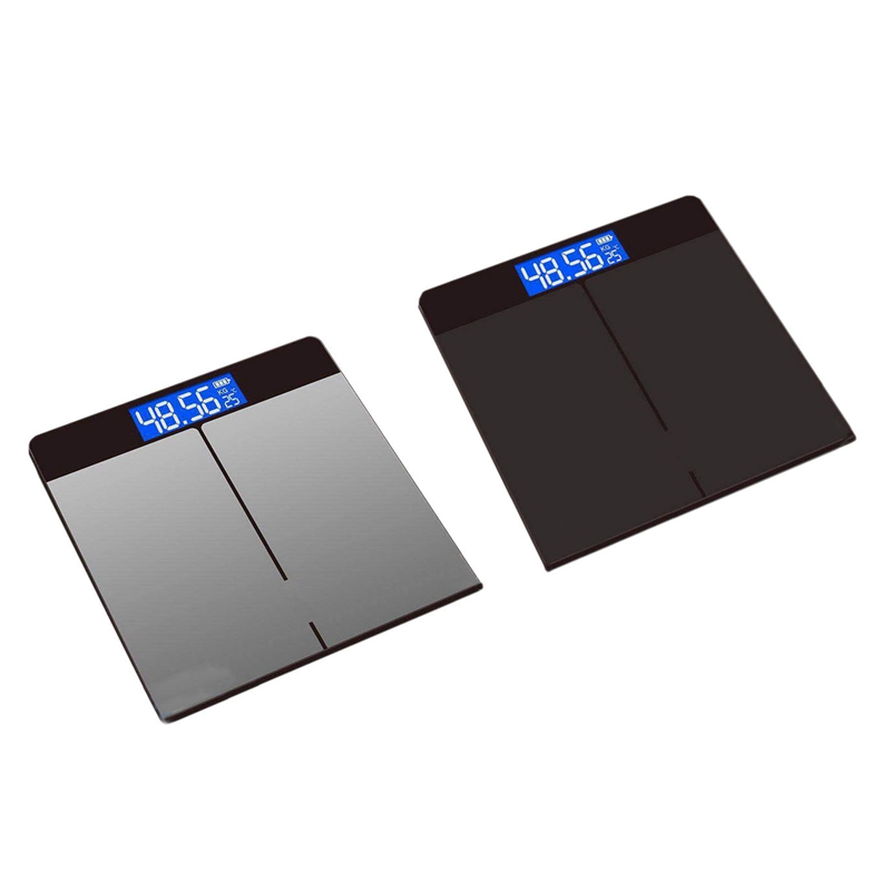 Tempered Glass Digital Body Weight Scale USB Charging LCD Bathroom Scales Weight Monitor Body Fats Scale