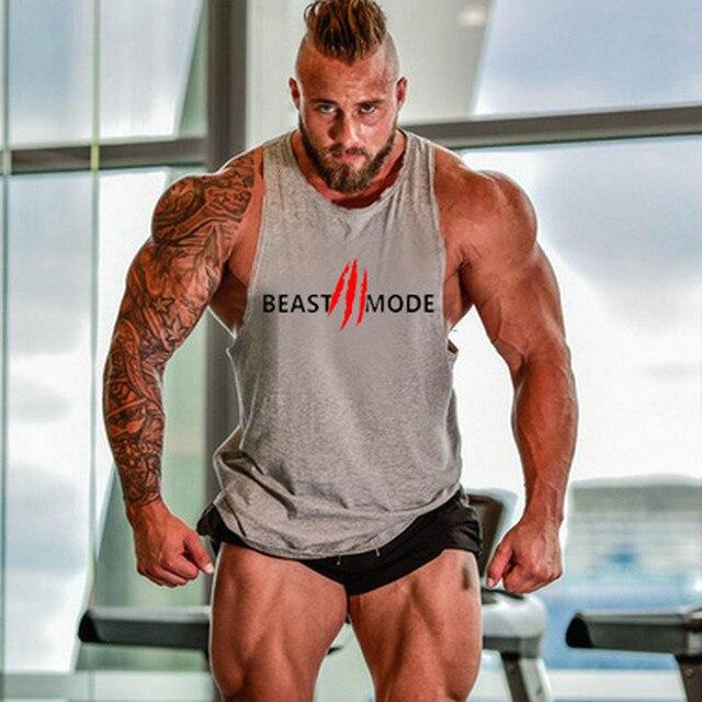 MODE Fitness gilet hommes Fitness musculation gilet chemise bête MODE hommes entraînement sport maillot de corps sport haut décontracté
