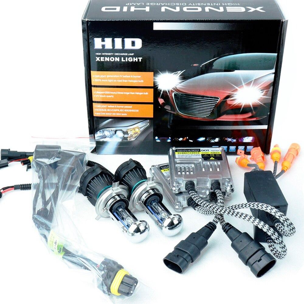 Slim Ballast Xenon HID Fast Start 55W KIT H4 Bi Xenon H1 H3 H7 H11 H27 880 9005HB3 9006HB4 High Quality Car Headlight Bulbs Lamp