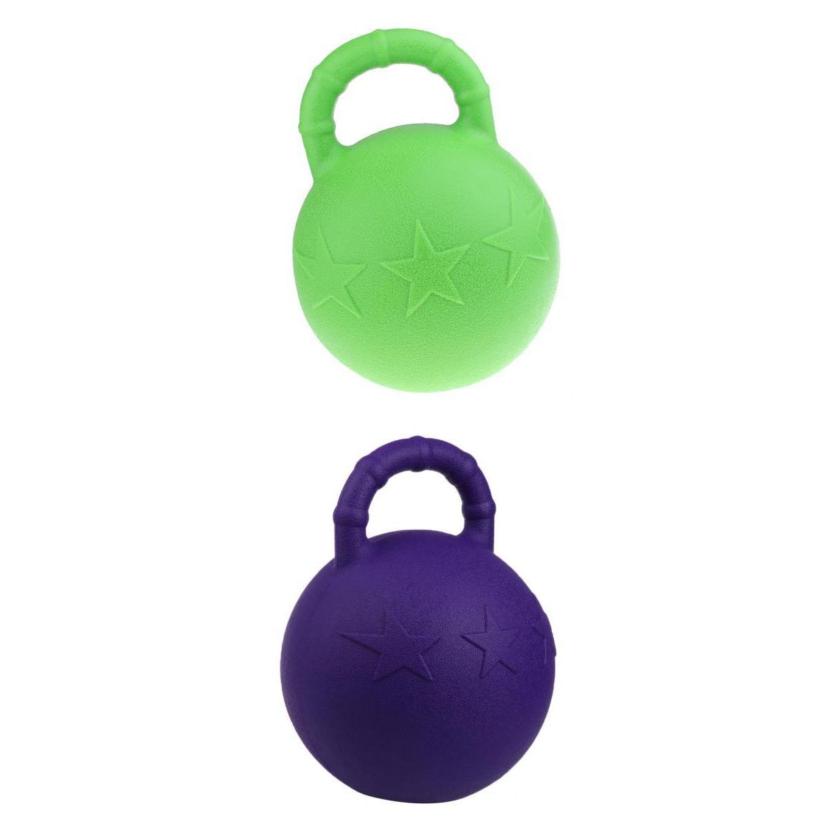 Equine Rubber Jolly Ball Fruit Scented For Training Horse Dog, Juggling, Game Playing - Pack Of  2