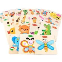 3D деревянные PuzzleIntellect детские игрушки мультфильм животных трафик обучения образовательных головоломки логические головоломки дети игрушка в подарок форму