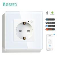 BSEED Mvava Wifi presa a muro Standard ue Smart Home miglioramento spina intelligente funziona con Tuya Google Home Alexa Timer funzione