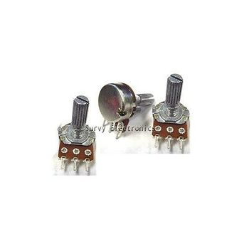 цена на 2 x 5K ohm Linear Taper Rotary Potentiometer Panel pot B5K 15mm new diy electronics