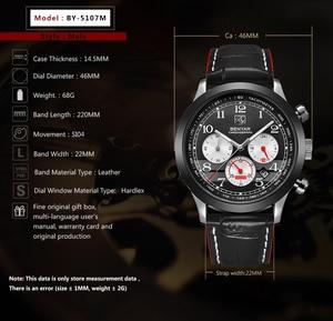 Image 3 - BENYAR Luxury Brand Men Analog Digital Leather Sports Watches Mens Army Military Watch Man Quartz Clock Relogio Masculino