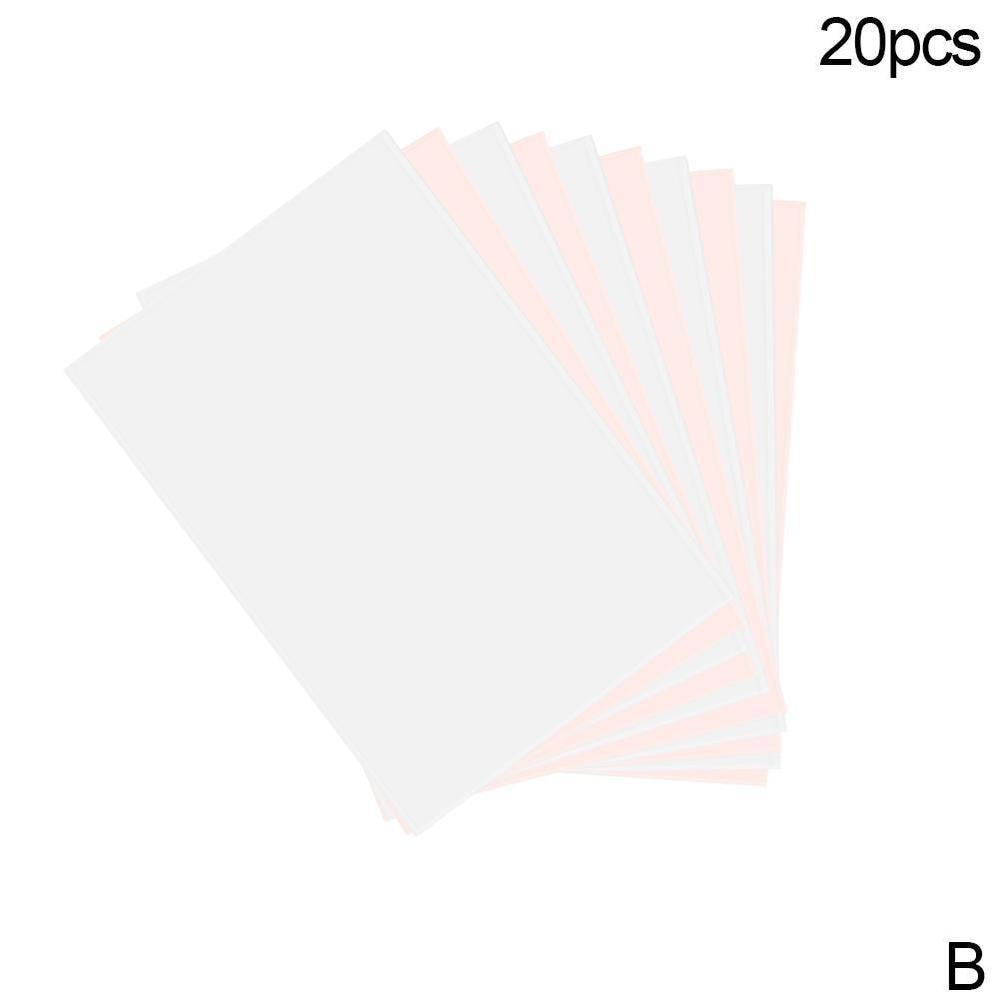 20 шт./компл. футболка A4 передачи бумага, железо на жару Пресс светильник ткани для струйной печати печать Бумага для футболки A4 ремесло - Цвет: 20pcs