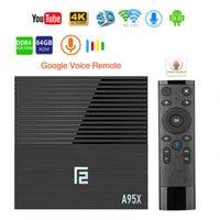 Android 9.0 Smart TV Box A95X F2 4GB 64GB Amlogic S905X2 2.4G/5G Wifi BT4.2 Voice Control Google Player Media Youtube Tv box