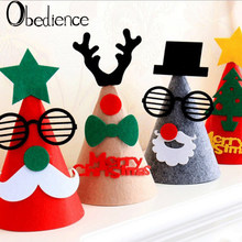 Creative Christmas Decoration Christmas Hat Children Adult Felt Hat Festival Party Dress(China)