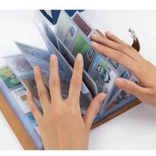 Для женщин человек Бизнес держатель для карт бумажник для кредитных карт, чехол карман для удостоверения личности-Для женщин карты держатель Porte carte
