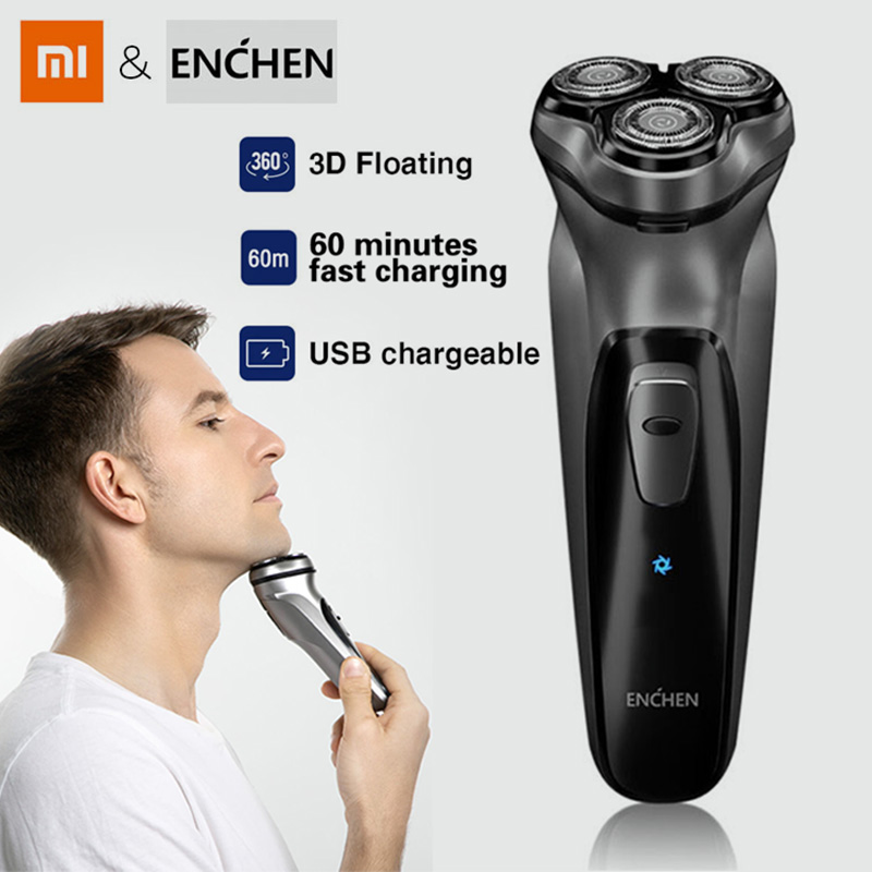 Xiaomi Enchen 3D Electric Shaver Cordless Shaver USB Charging Electric Shaver 3 Blades Portable Trimmer Sideburns Cutting Mijia