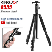 KINGJOY Official G555 Professional Portable Tripod Kit Monopod Stand Buckle Lock Ball head For Travel DSLR Camera Photographic zomei camera tripod portable portable professioional aluminium monopod 4 sections tripods with 360 degree ball head for dv dslr