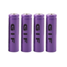 IN STOCK! 4 pcs Purple 14500 3.7 V 2300 mAh Li-Ion Rechargeable Battery
