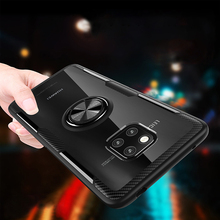 For huawei mate20Pro mate20 with Magnetic Vehicle Support Ring case mate20lite Transparent Case
