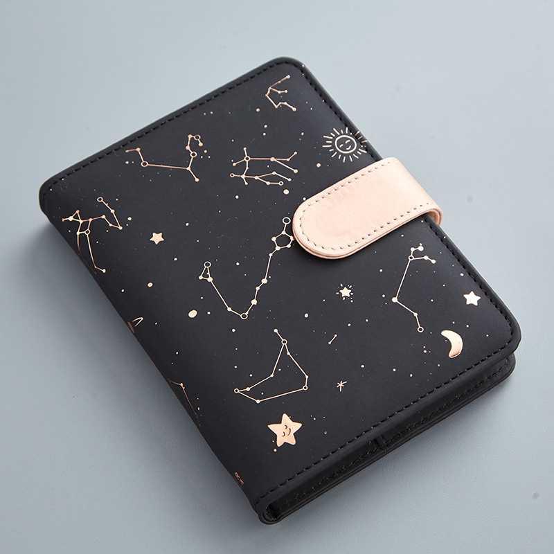 A6 diário planejador caderno galaxy star zodíaco mini a6 agenda divisores semanal mensal diário de viagem pessoal diário livros de nota