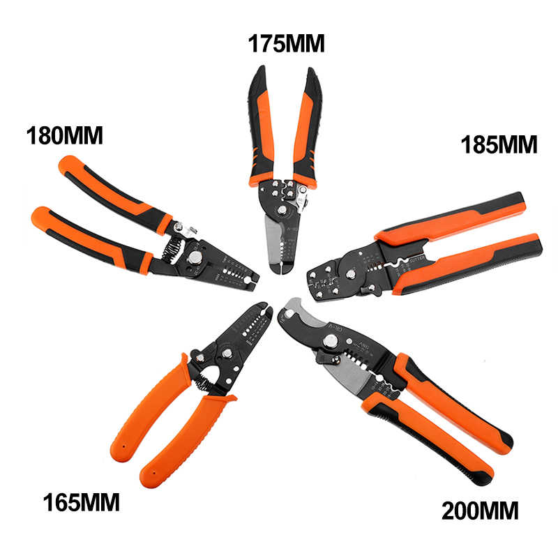 Multi Tool Tangen Krimptang Wire Stripper Multi Functionele Snap Ring Terminals Crimper