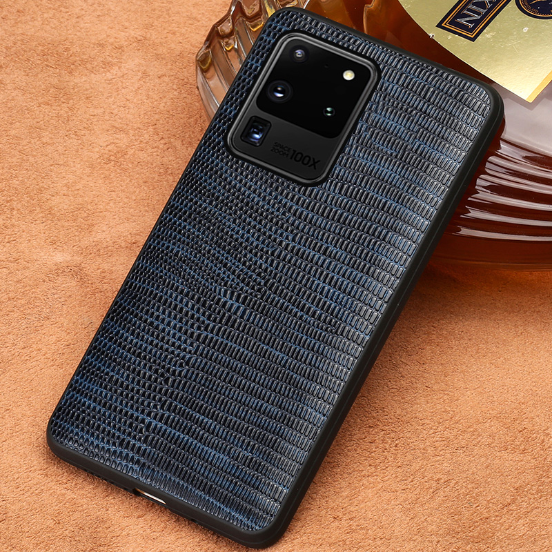 Genuine Leather Lizard Grain Phone Case for Samsung Galaxy S20 Ultra S20 Plus Note 10 9 S10 Plus S9 S8 S7 A50 A51 A70 Back Cover(China)