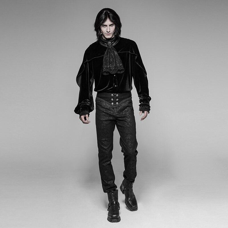 ßHot DealsVelvet Shirt Blouses Stitching Evening-Dress Mesh Vintage Formal Gothic Men's Lace Lotus-Cuff