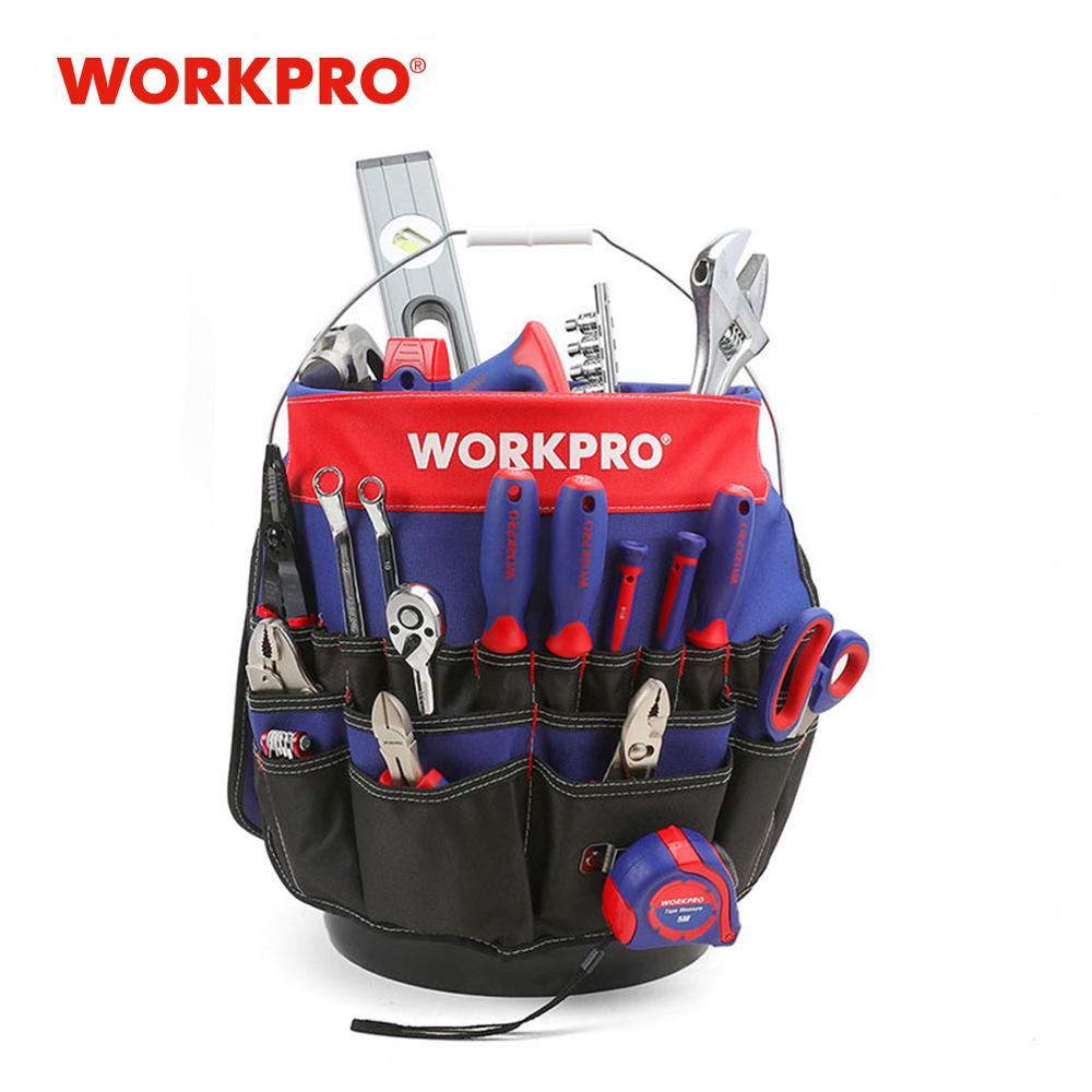 WORKPRO 5 Gallon Bucket Tool Organizer Bucket Boss Tool Bag (Tools Excluded)