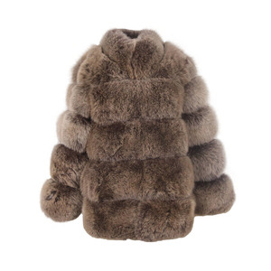 Image 5 - ורוד java QC8142 2018 חדש דגם נשים אמיתי שועל פרווה מעיל עם פרוות שועל צווארון ארוך שרוולים מעיל gebuine שועל תלבושת באיכות גבוהה