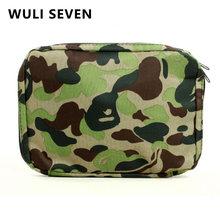 Wuli seven модная камуфляжная косметичка дорожная сумка Органайзер