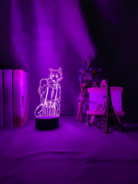 H53836ee6387e447e9c044919fd4e5459B Luminária Beastars de mesa legosi acrílica 3d, luz noturna para decoração de quarto infantil, luz noturna para presente usb