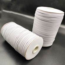 3mm/6mm Elastic Bands for DIY Sewing Elastic Cord Rope White Elastic Rubber Band Elastic Mask DIY Garment Accessories mask elastic bands 2mm colorful round hair elastic rope high quality rubber line diy sewing crafts accessories elastic cord