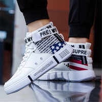 2019 Men Casual Shoes Sneakers Spring High Top Trend Man Shoes Brand Comfortable Breathable Waterproof Walking Basketball shoes