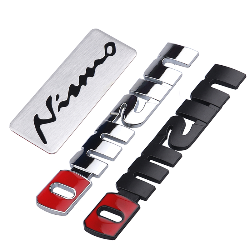 3D Metal Nismo Car Sticker For Nissan Metal Pure Drive Nismo Emblem Decal Car Styling For Nissan Qashqai X-trail Car Styling