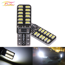 1000x Super Bright T10 LED 194 501 W5W 24 SMD 4014 Canbus Error Free Car Interior Lights Auto Clearance Lamps DC 12V