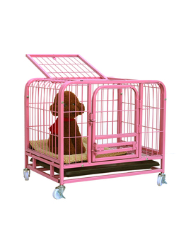 Teddy Dog Cage Small  with Toilet Indoor Large  Golden Retriever Kennel Home Pet Cat   Litterdog fence hamster fence
