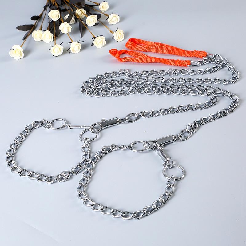 Tianjin Jia Jinjia Pet Supplies Chrome-Plated Pet Anti-Bites Dog Dog Chain Iron Chain With Collar Long 160 Cm