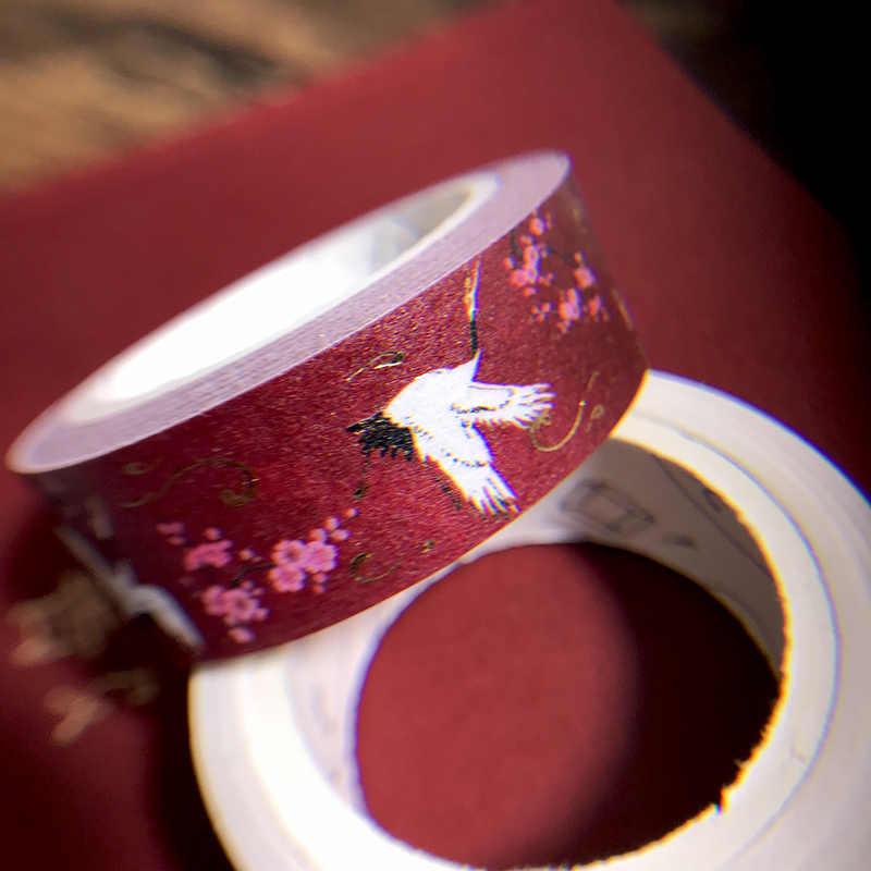 1 paquete de cinta Washi de alta calidad a rayas/cuadrícula/Flores cinta adhesiva de papel de Color sólido básico cinta
