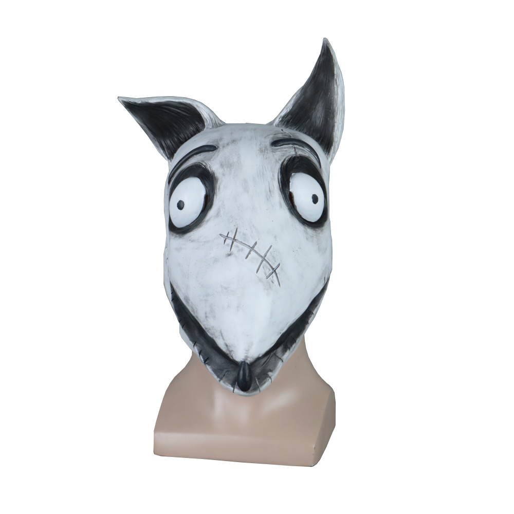 Cosplay Frankenweenie Mask Sparky Dog Face Mask Halloween Masquerade Mask Props