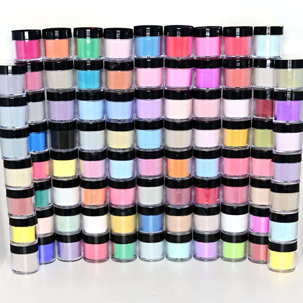 50/90Bottles/Set Random 3 in1 Nail Art Acrylic Powder Fast Dry Collection 90 Color Dip Dust Bulk Clear Acrylic Kit Powder Tc#100