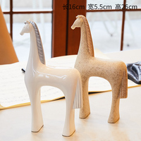 Abstract Horse Ornaments Luxury Creative Miniature Animals Living Room Modern Figurines Crafts Gift Decoracao Home Decor DA60XB