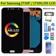 Супер Amoled LCD для Samsung Galaxy J7 Pro 2017 J730 J730F ЖК-дисплей и сенсорный экран дигитайзер сборка