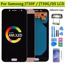 Süper Amoled LCD Samsung Galaxy J7 Pro 2017 J730 J730F LCD ekran ve dokunmatik ekran Digitizer meclisi