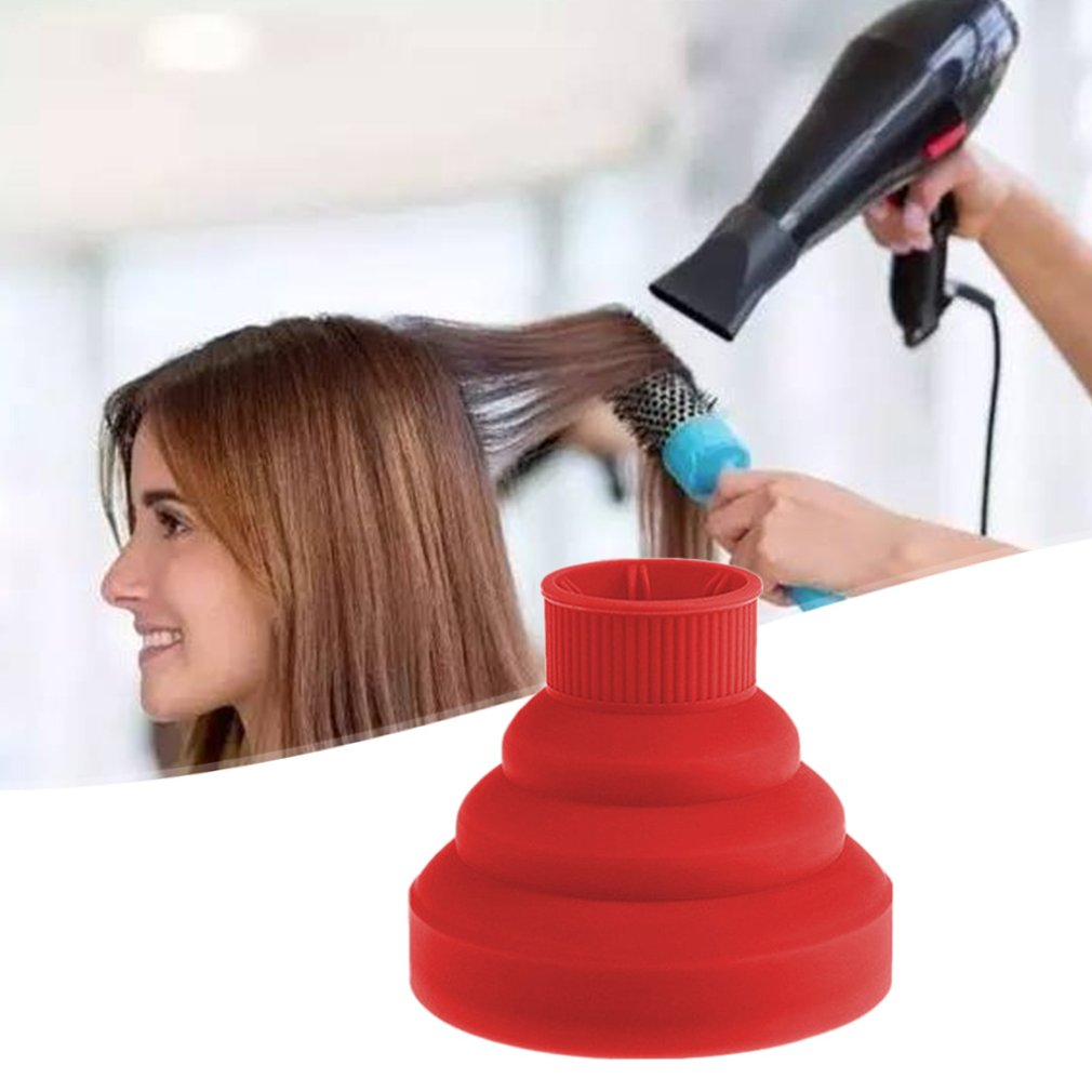 Hair Dryer Folding Hood Silicone Hair Dryer Curl Large Interface Telescopic Dryer Hair Dryer Hair Dryer Cover
