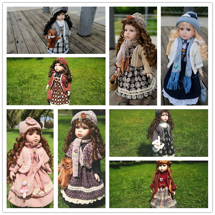 2019 News 40CM European Style Victoria Style Russia Ceramic Classical Doll Noble Porcelain Doll High Quality Toy Gift For Girl